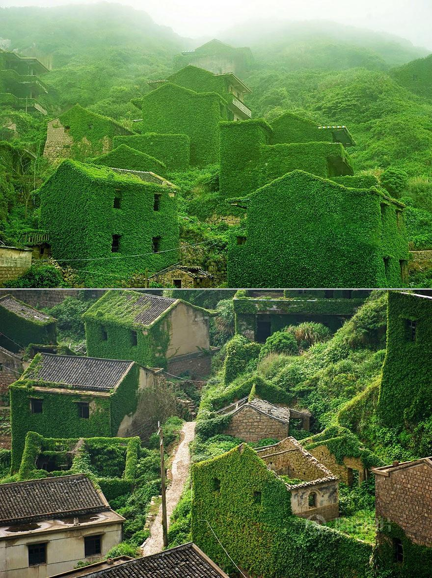Abandoned Fishing Village In Shengsi, China-vert